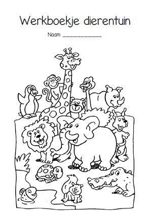 werkbladen dierentuin kleuters