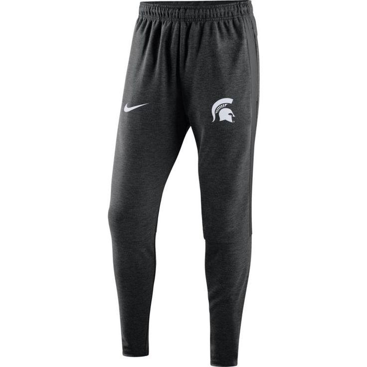 Nike Men's Michigan State Spartans Heathered Black Travel Football Pants, Size: Medium, Team