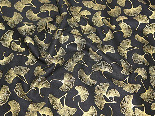 """Premier Cotton Prints Quilting Fabric - Metallic Oriental Floral Fan - Fat Quarter (20"""" x 22""""): Amazon.co.uk: Kitchen & Home"""