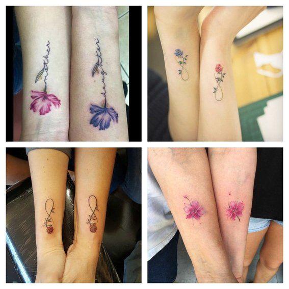 Tatuajes De Flores Para Las Parejas Que Saben Que Su Amor Es Para Siempre 3 Tattoos Watercolor Tattoo Tatto