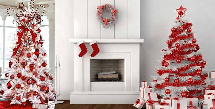 decoracion arboles navidad blanco - Buscar con Google