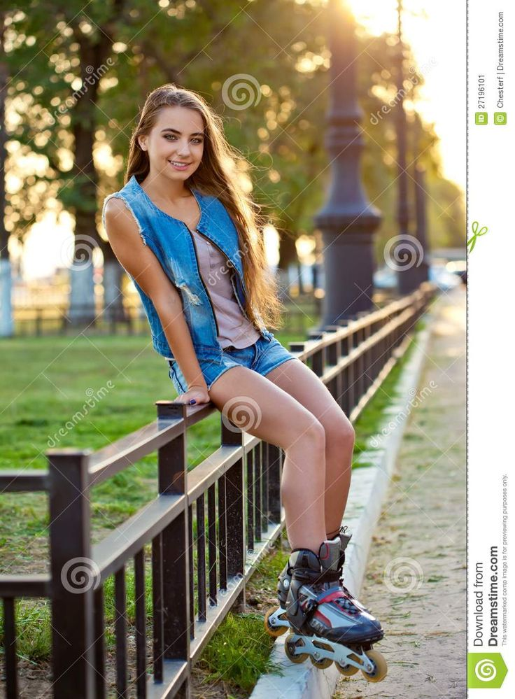 thumbs dreamstime   z roller girl wearing jeans