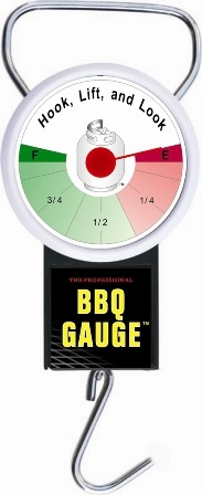 The Professional BBQ Gas Gauge is a handy measuring device that easily and reliably measures the amount of gas in a standard gas cyclinder. Cyclinders must be 8.5kg to 9kg.   Works instantly. No batteries needed and gas bottle can remain attached to hose.  Hand Held, Portable and easy to use. Custome engineered and calibrated for precision reliability.