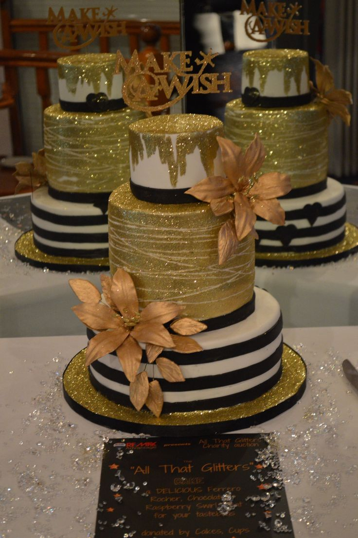 All That Glitters Charity Gala for Make A Wish Australia The awesome cake! #remaxadvantage