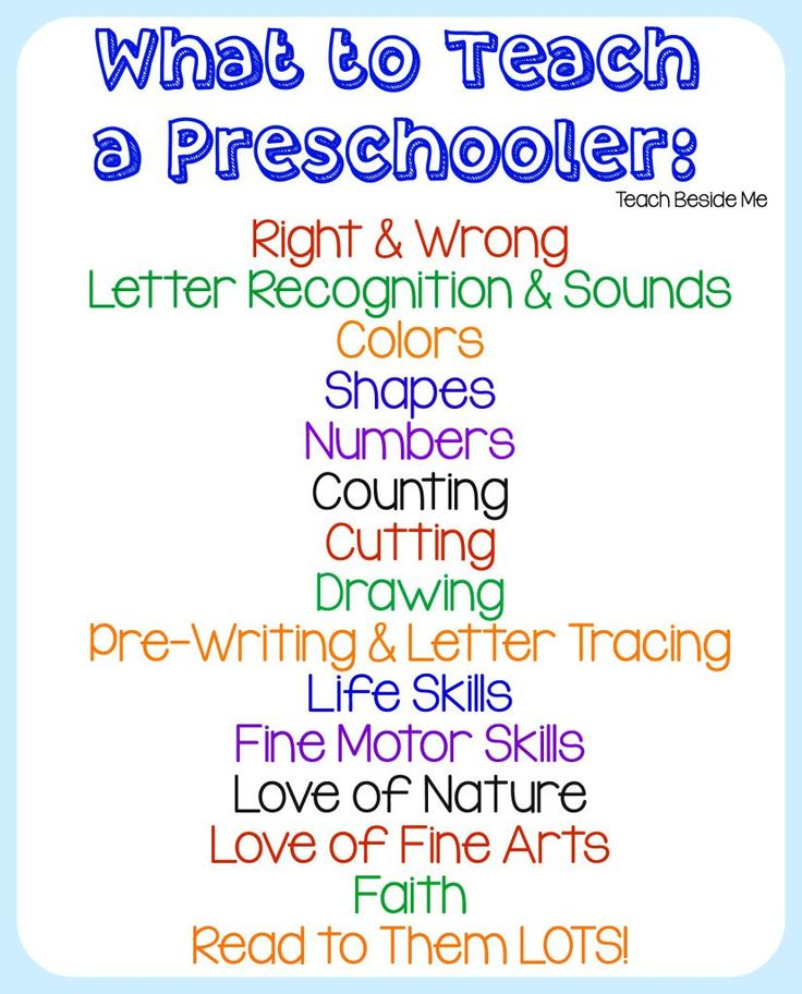 What To Teach a Preschooler : Homeschool Preschool