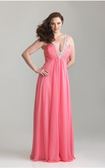 Zipper Floor-length Empire A-line Chiffon Formal Dresses ahza307033
