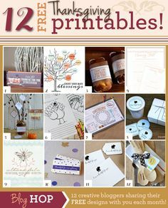 The best collection of Thanksgiving Printables!
