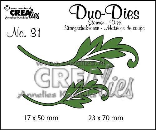 Crealies Leaves 1 Duo Die Set