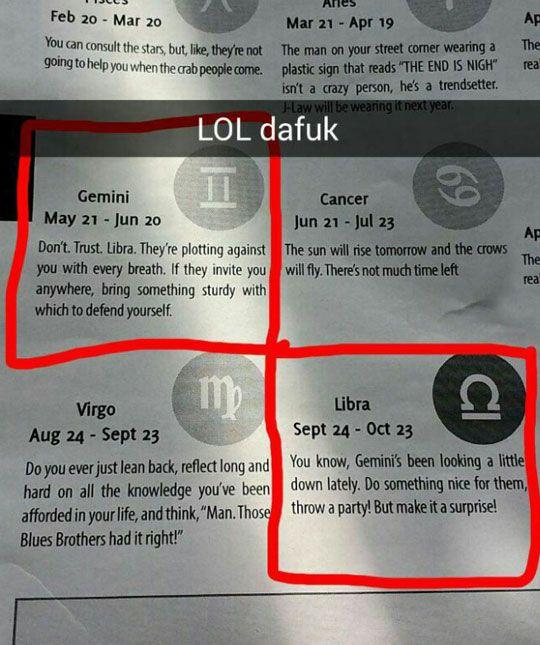 Horoscopes Are Starting To Get Weird