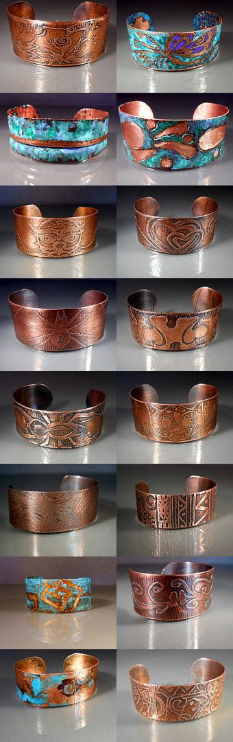 Handcrafted Copper Cuff Bracelets by studiovdesigns on Etsy--Pinned with TreasuryPin.com