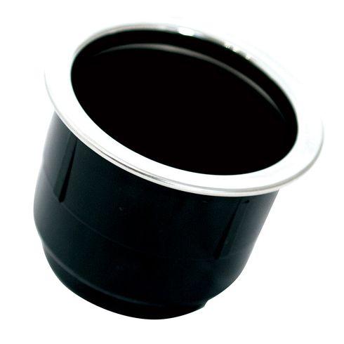 Tigress Black Plastic Cup Holder Insert w/SS Ring On Top
