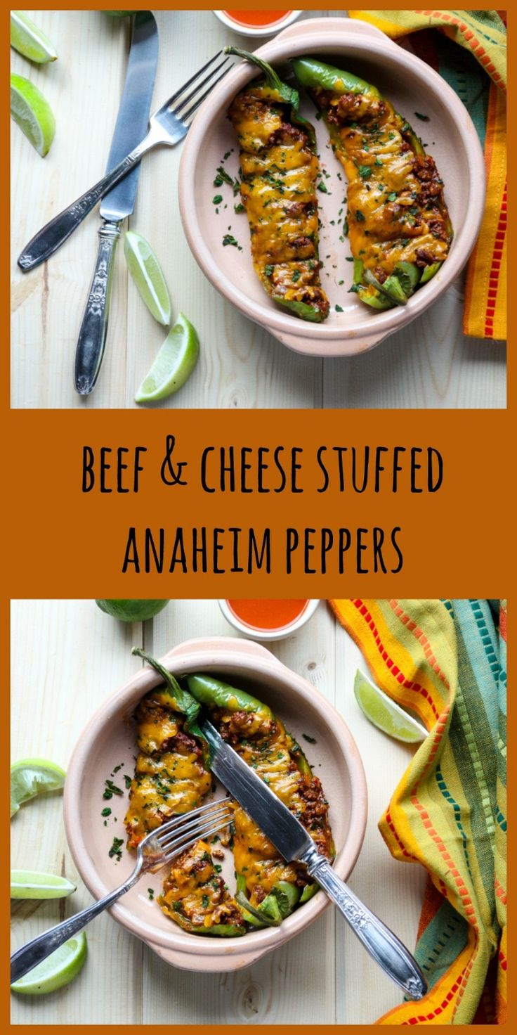 Stuffed Anaheim Peppers with Ground Beef, Mexican flavours and Cheese. A delicious, easy to make meal with just a hint o…