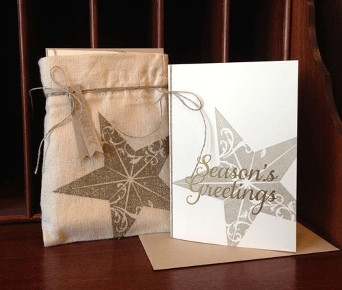 Check out this cool Technique for getting crisp, stamped images onto our Mini Muslin Bags from the Holiday Mini. #stampinup #giftwrap #packaging: Holiday, Christmas Cards, Single Stamps, Class Ideas, Stampin Up, Card Ideas, Su Christmas, Christmas Stars