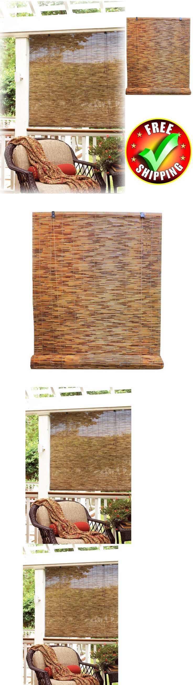 Blinds and Shades 20585: Bamboo Shade 48X72 Roll Up Window Reed Woven Natural Rustic Outdoor Blind New -> BUY IT NOW ONLY: $39.99 on eBay!