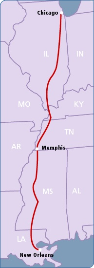 amtrack chicago to new orleans route