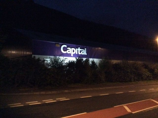 Capital Coated #Steel Headquarters Refurbishment Project. Night View from road