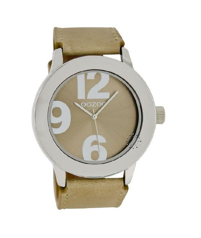oozoo horloges oozoo dames horloge c6140 beige 50mm artikel oozoo ...