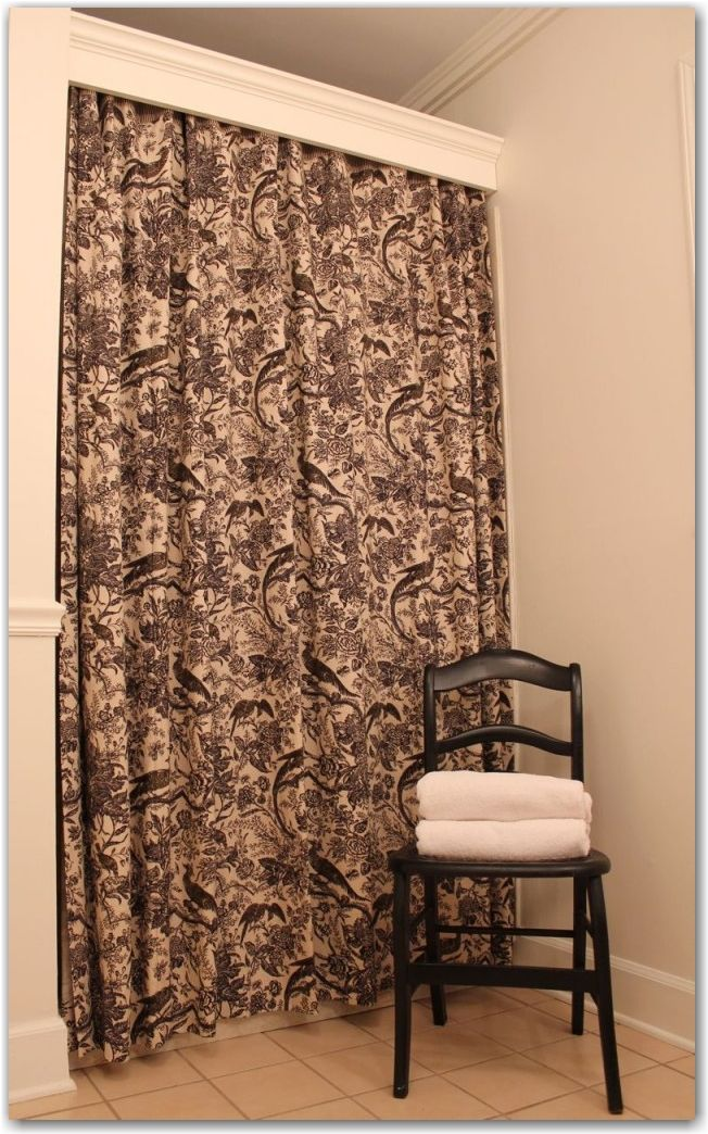 Trim Piece With Hidden Curtain Rod To Conceal The Shower Curtain