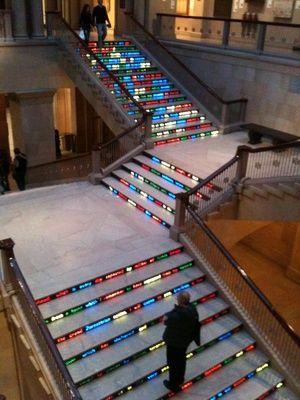 Art Institute Exhibit Light Path