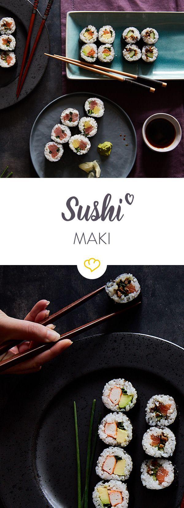 Bereit für deine nächste Sushi Party? Da darf Sushi Maki auf keinen Fall fehlen. Hier findest du die richtigen Rezepte zum Nachmachen.