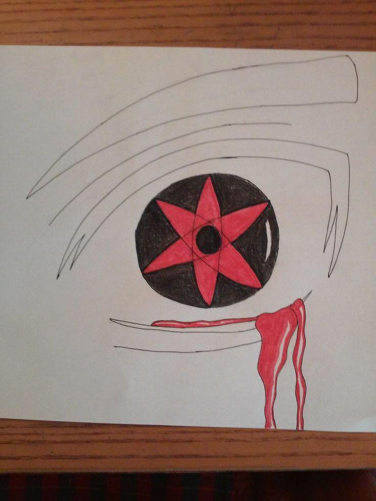 How to Draw Sasuke Uchiha Mangekyou Sharingan - YouTube |Itachi Mangekyou Sharingan Drawing