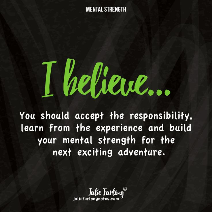 Create your experience and note the positives to move forward for the next one... Take a look at Juliefurlongnotes.com