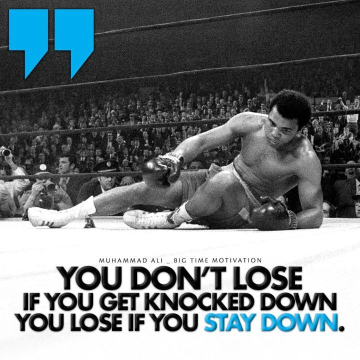 Motivation Inspiration Knocked Down Boxing Dream Don/'t Quit Strong Poster Quote