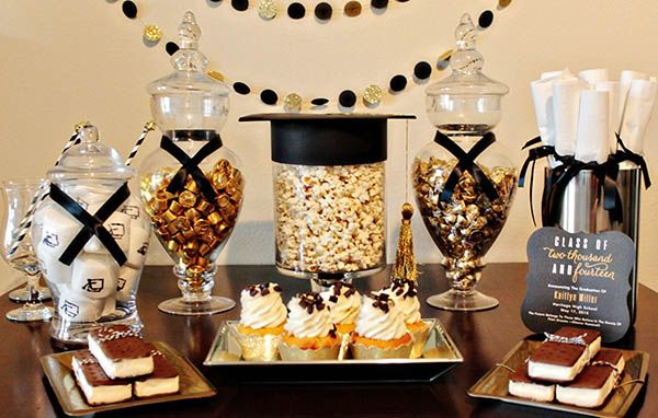 We Are So Excited To Finally Show You Our Black And Gold Graduation Party We Styled With Tiny Prints. It Has So Many Cute Ideas And Inspirations!