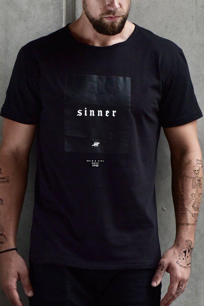 Camisetas Para Hombre - Camiseta Sinner Black - Ropa Urbana – urbanwearco