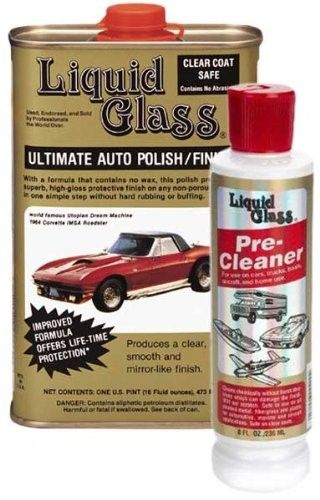 Liquid Glass Ultimate Auto Polish & Pre-Cleaner Combo (Pack of 2), Silver