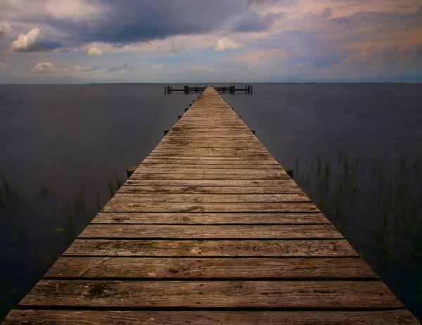 Shot of a pier taken using a 10-stop neutral density filter