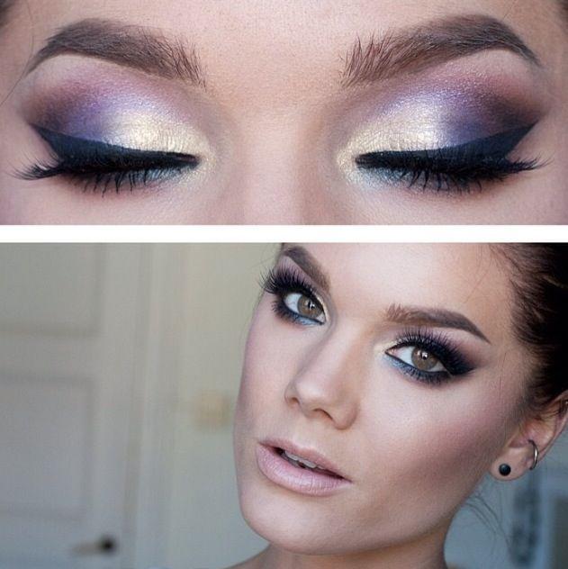 Dark Purple Bridal Makeup : purple black smokey eye makeup lovely! Makeup ...