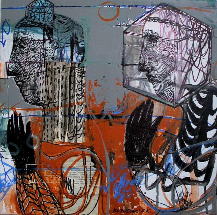 """Saatchi Art Artist Rusudan Khizanishvili; Painting, """"Middle Age"""" #art"""
