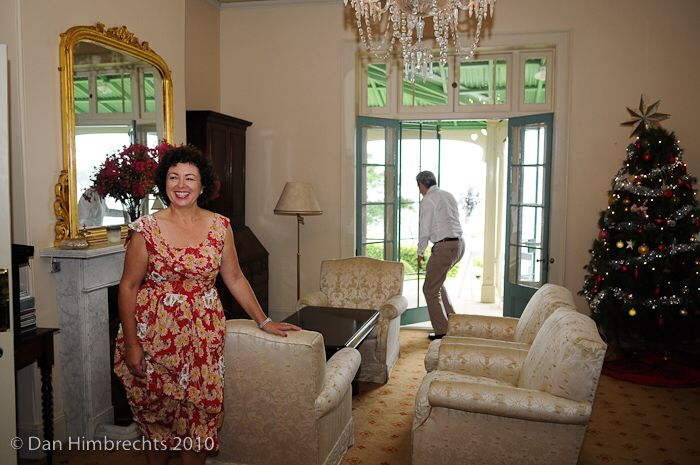 Therese Rein and Kevin Rudd in the drawing room.