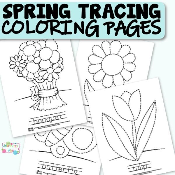 Spring Tracing Coloring Pages Itsybitsyfun Com Coloring Pages Tracing Worksheets Bug Coloring Pages