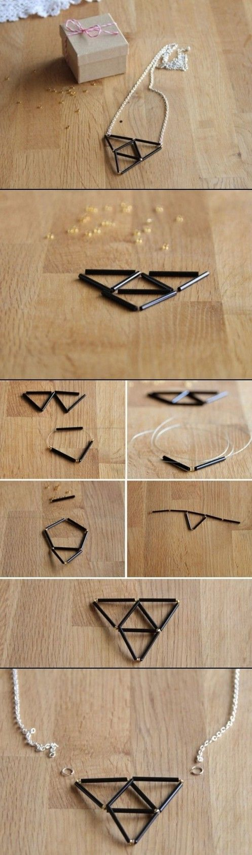 use drinking straw for kids to make their own design necklace