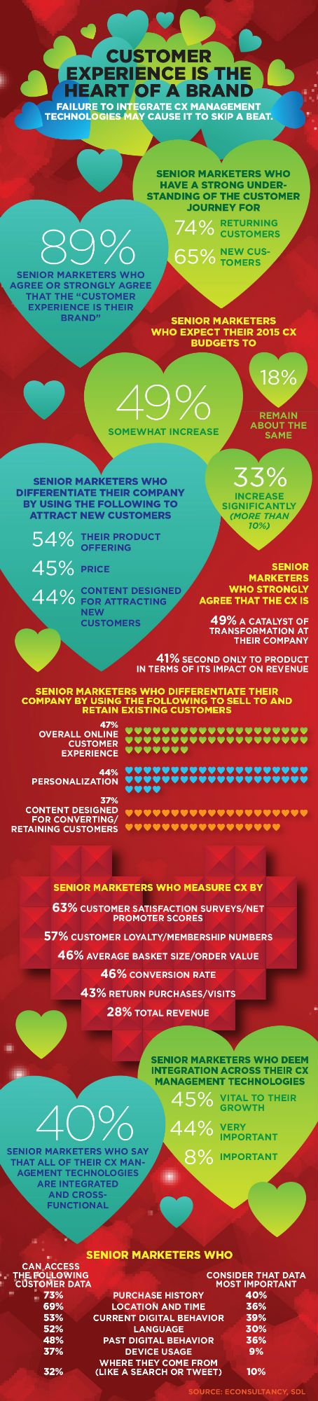 """89% of senior marketers for North American retail companies agree or strongly agree that the """"customer experience is their brand."""""""