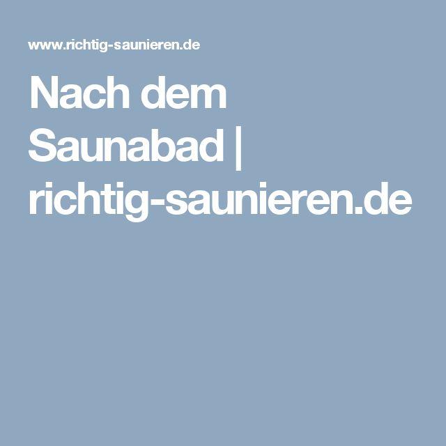 Nach dem Saunabad | richtig-saunieren.de