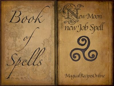 New Moon New Job Spells Career Spell Lunar Magic Cinnamon, sandalwood, basil, bay, cauldron, charcoals (to light herbs as incense in cauldron), 5 white candles, luck anointing oil for the candle, a copy of job advertisement you want, and a list of all your great traits & qualifications.