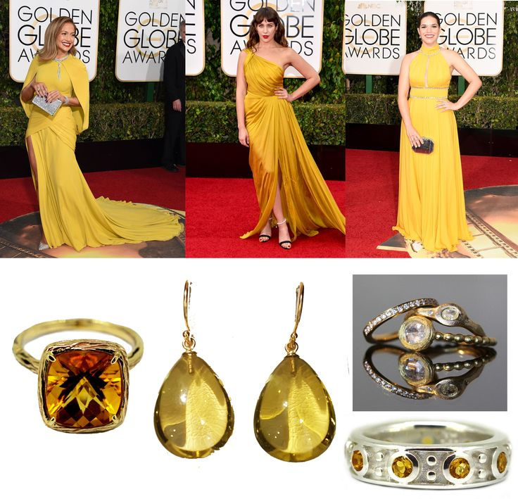 Yellow made a strong show this year, Get the look with citrine, lemon quartz and yellow gold