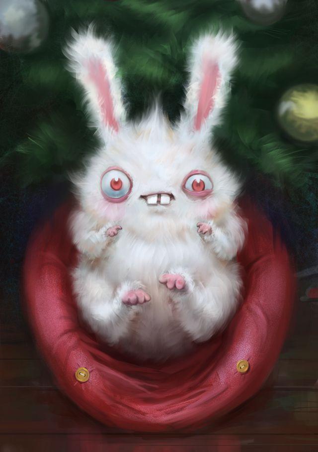 Картинка страшного кролика