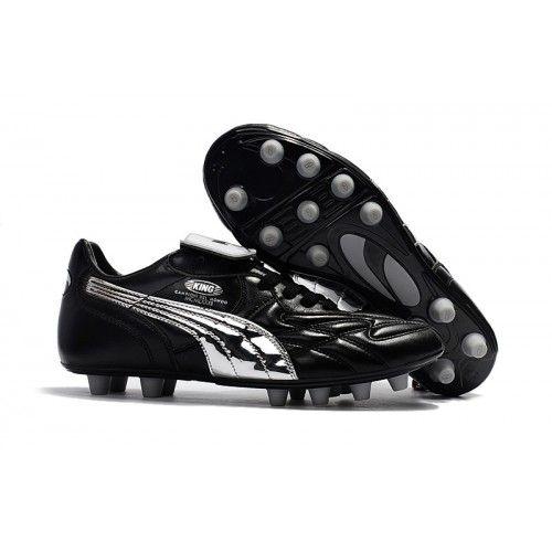 Acheter Puma King Top M.I.I CHROME FG Chaussures de football Noir argent