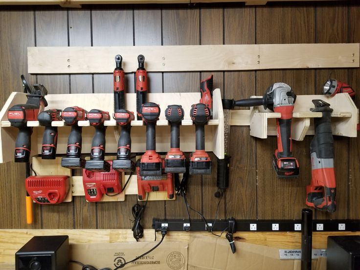 Diy Cordless Power Tool Storage Charging Station