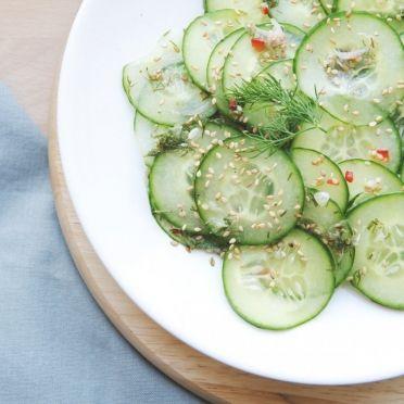 Komkommersalade - Dille & Kamille