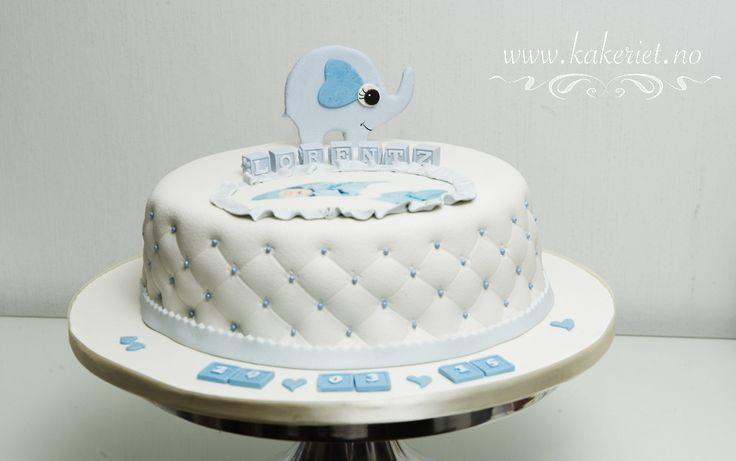Christening cake with elephant <3