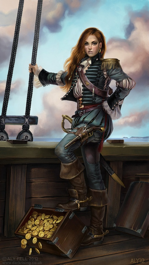 Gráinne Ní Mháille was an interesting pirate, clan chief and real life heroine of Ireland. She met Elizabeth the First and generally kicked a lot of bottom in the 16th century! (And if you're wondering how her name was pronounced: GRAWN-ya nee WALL-ya)  Pirates!