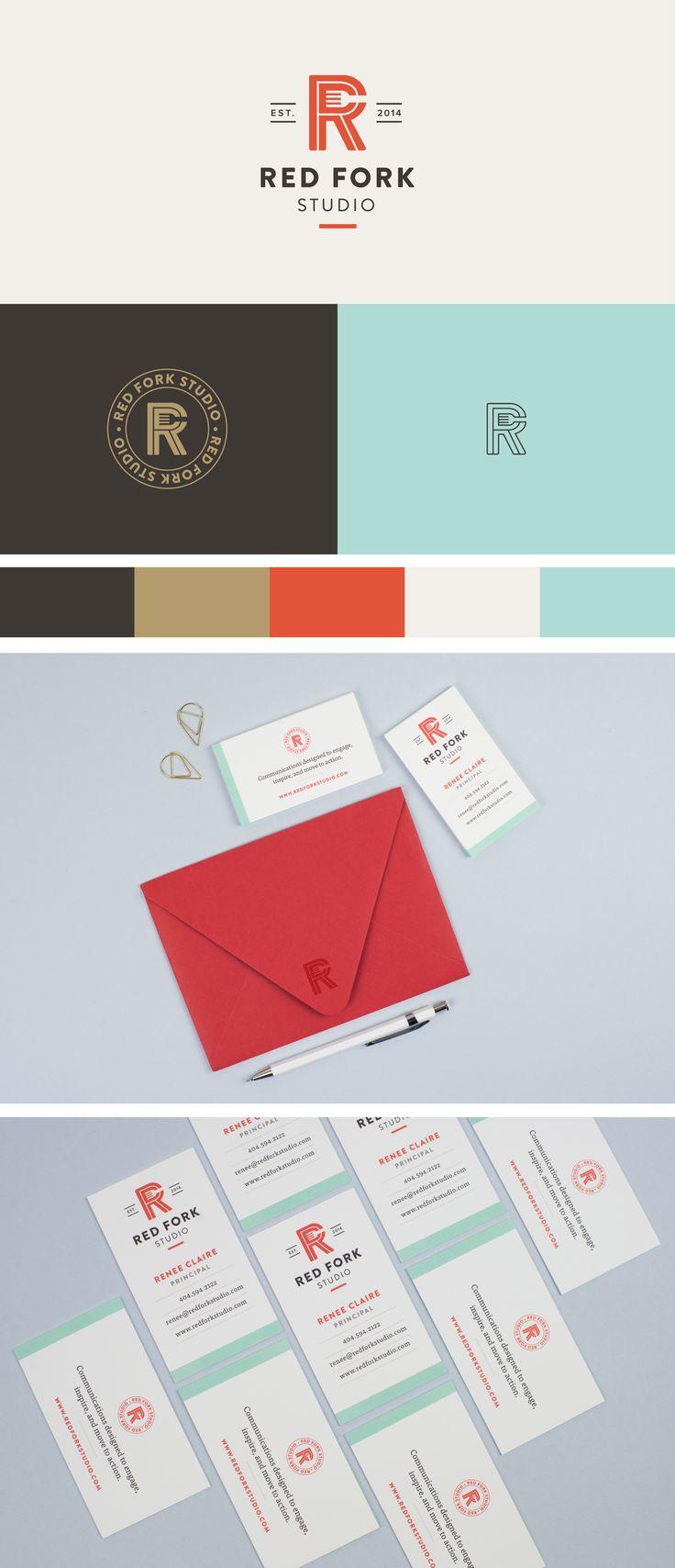 Red Fork Studio brand identity | Spruce Rd. | logo design, pattern design, online marketing, branding, monogram