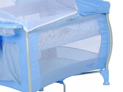 Berço Desmontável Nanna c/ Regulagem de Altura - Blue Check Burigotto com as melhores condições você encontra no Magazine Siarra. Confira!