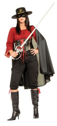 Female Super Deluxe Zorro Costume Authentic Zorro Costumes