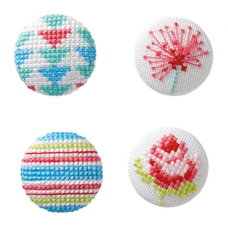 Cross Stitch Cover Button | The Making Spot I've been cross stitching like crazy lately and devouring any free patterns I can find! The Making Spot is a fantastic mix of free & pay patterns, tutorials and tips. I adore those flower patterns on the right - they would be great on a ring or hair pin.